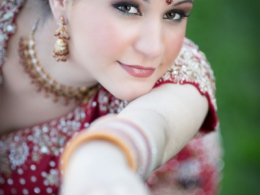 Modern but Traditional Indian Bride by Kim Basran
