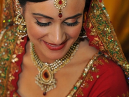 Ravishing Red Indian Bridal Makeup by Kim Basran