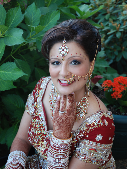 Stunning Red Indian Wedding Makeup By Kim Basran
